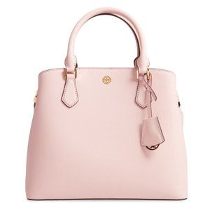 Tory Burch Robinson Triple Comp Tote Shell Pink NW